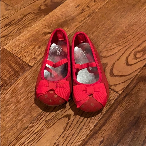 GAP Other - Red on red polka dot slip on's. Gap-size 6